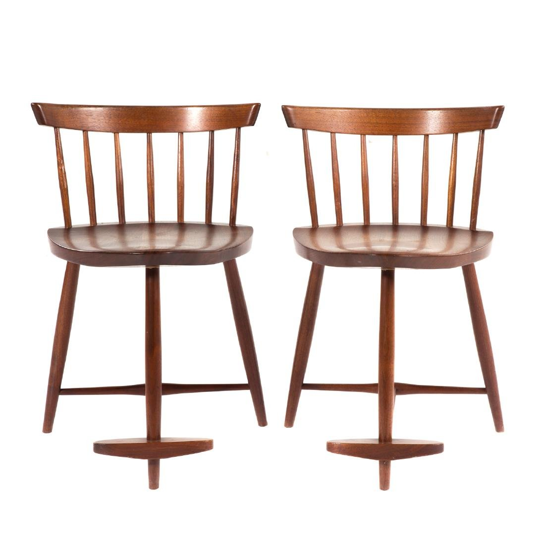 Pair of George Nakashima Mira Chairs