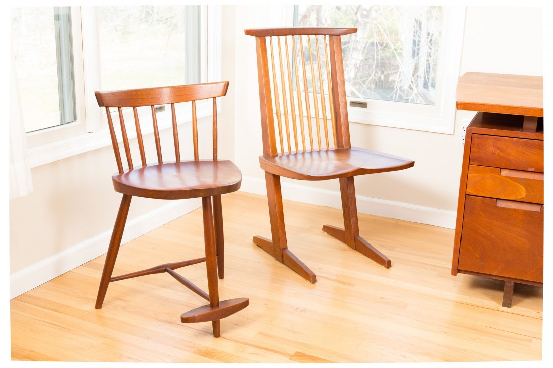 Pair of George Nakashima Mira Chairs - 8