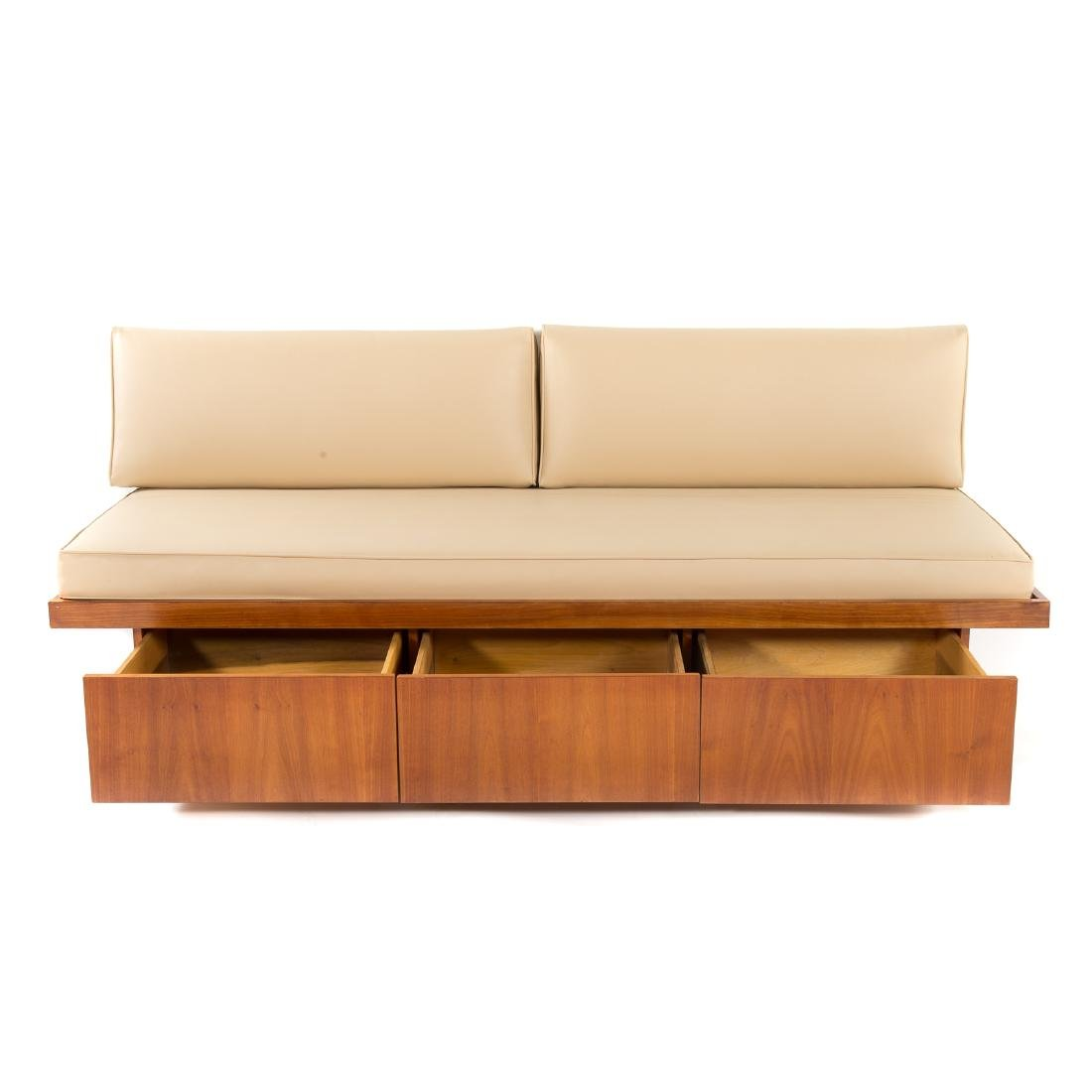 Attributed to George Nakashima.  Custom Daybed - 2