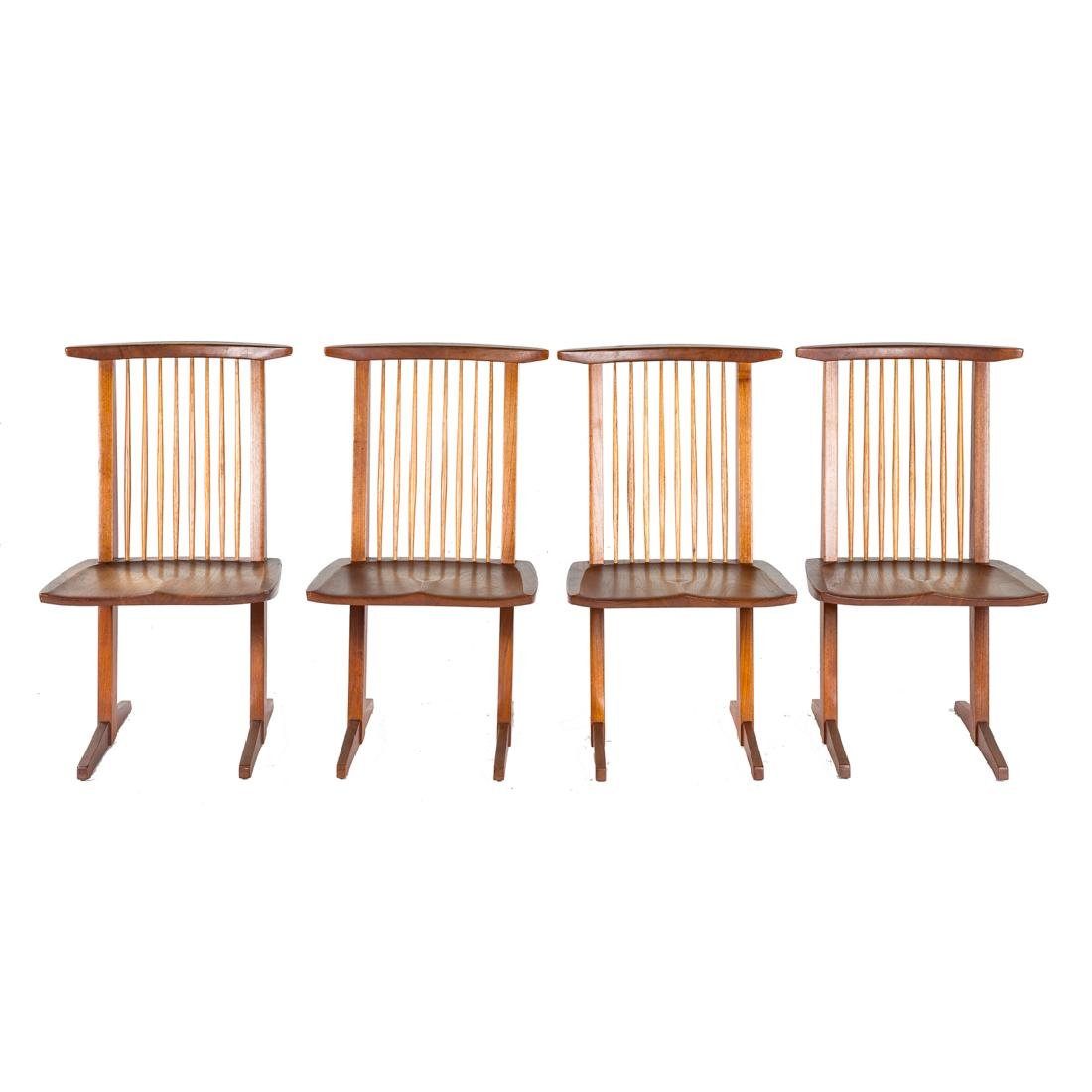 Set of Four George Nakashima Conoid Chairs