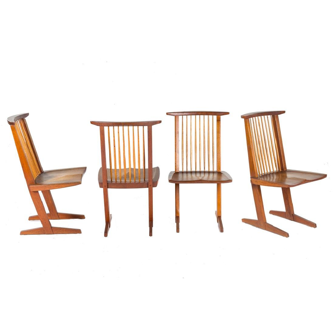 Set of Four George Nakashima Conoid Chairs - 2