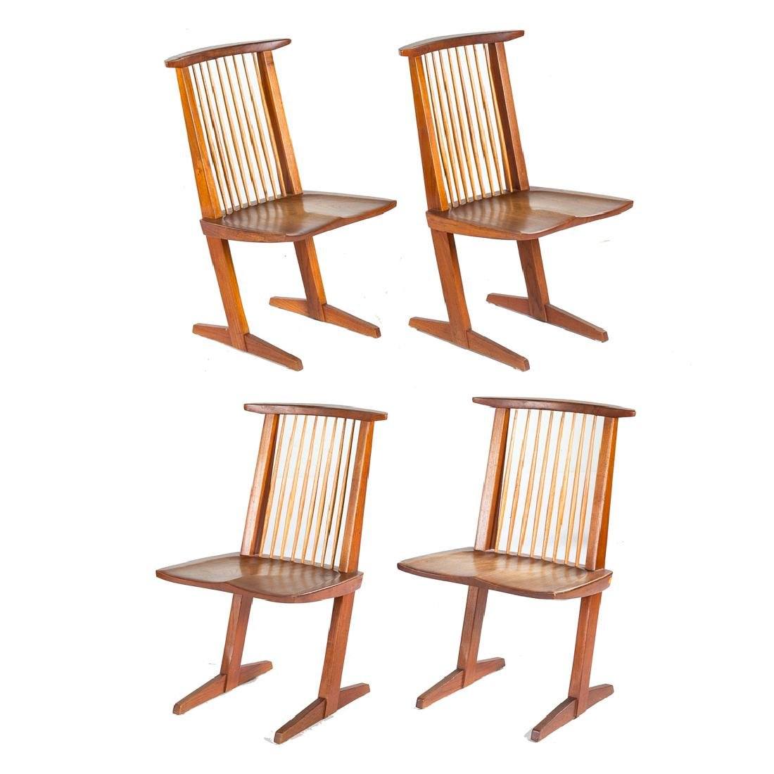 Set of Four George Nakashima Conoid Chairs - 3