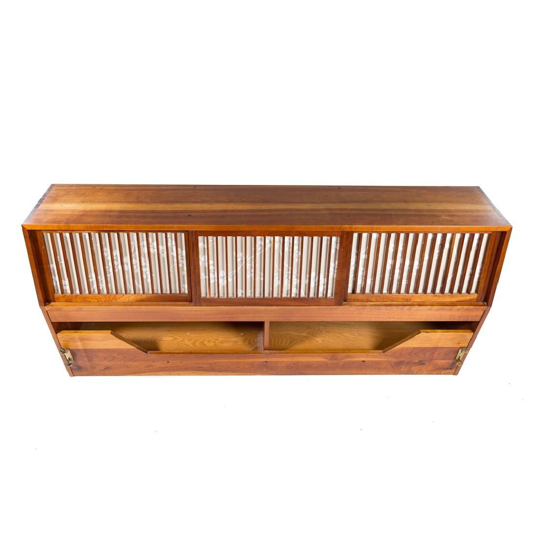 George Nakashima Custom Storage King Headboard - 4