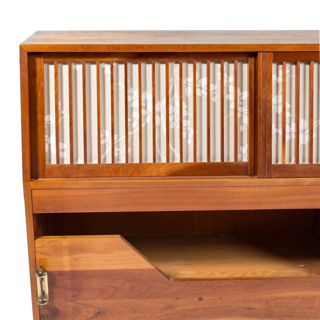 George Nakashima Custom Storage King Headboard - 5