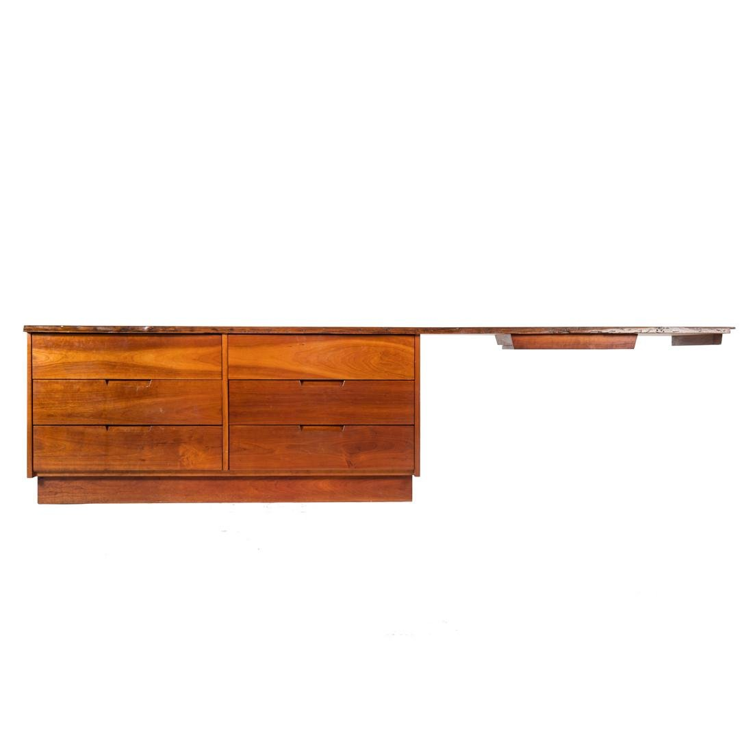 George Nakashima Custom Double Dresser / Desk - 5
