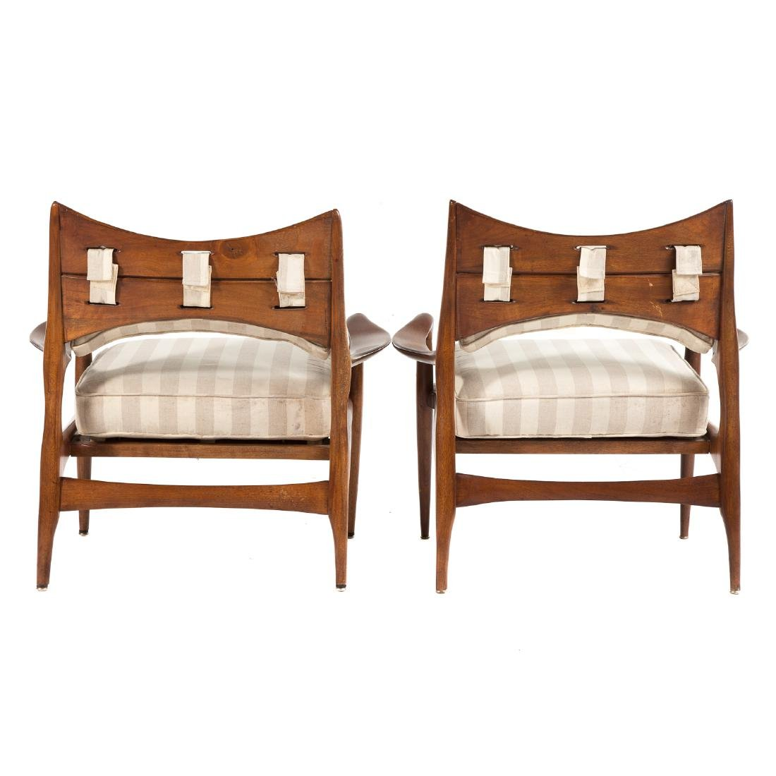 Pair of Phillip Lloyd Powell Walnut Lounge Chairs - 4