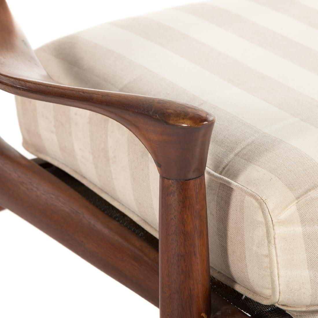 Pair of Phillip Lloyd Powell Walnut Lounge Chairs - 5