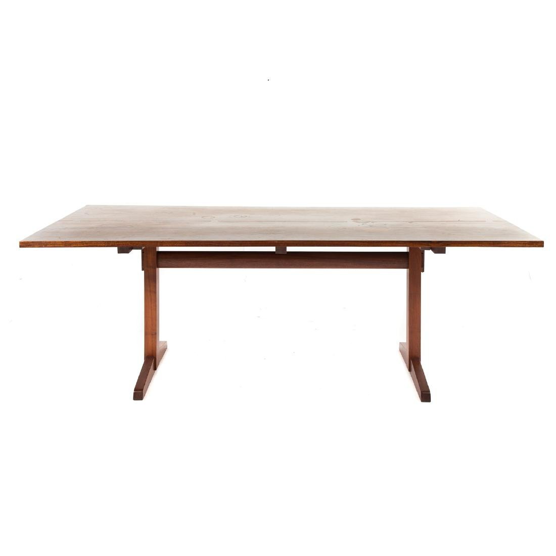 George Nakashima Laurel-top Trestle Dining Table