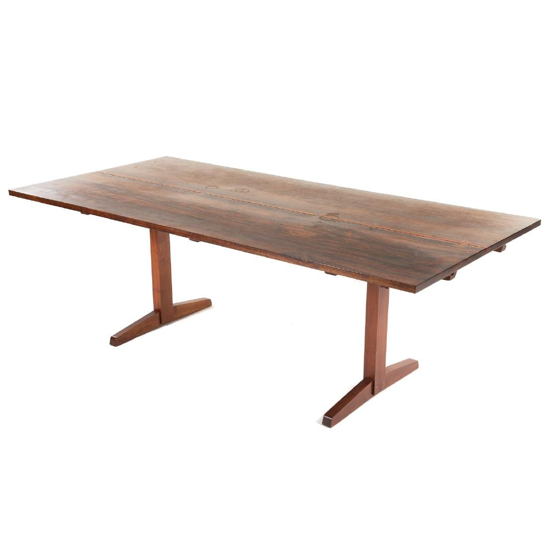 George Nakashima Laurel-top Trestle Dining Table - 2