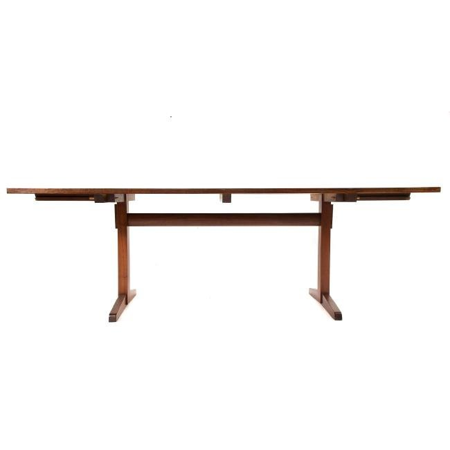 George Nakashima Laurel-top Trestle Dining Table - 4