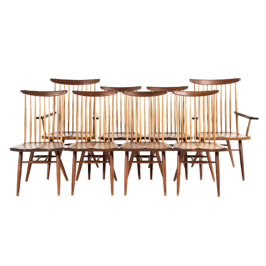 Set of Eight George Nakashima New Dining Chairs