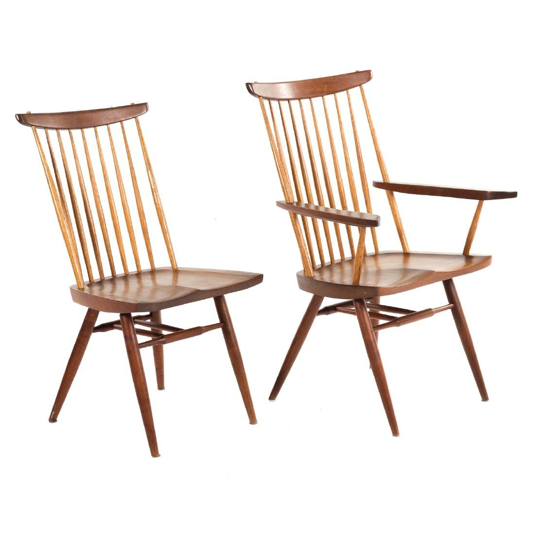 Set of Eight George Nakashima New Dining Chairs - 2
