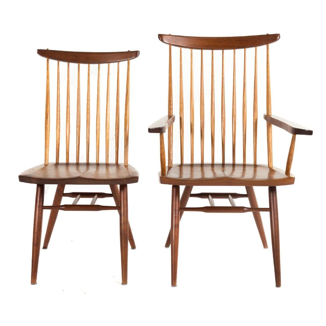 Set of Eight George Nakashima New Dining Chairs - 3
