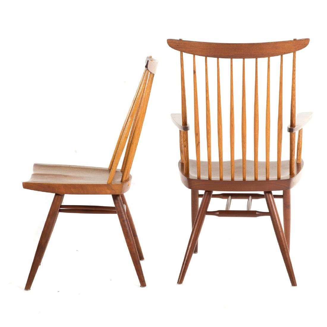 Set of Eight George Nakashima New Dining Chairs - 4