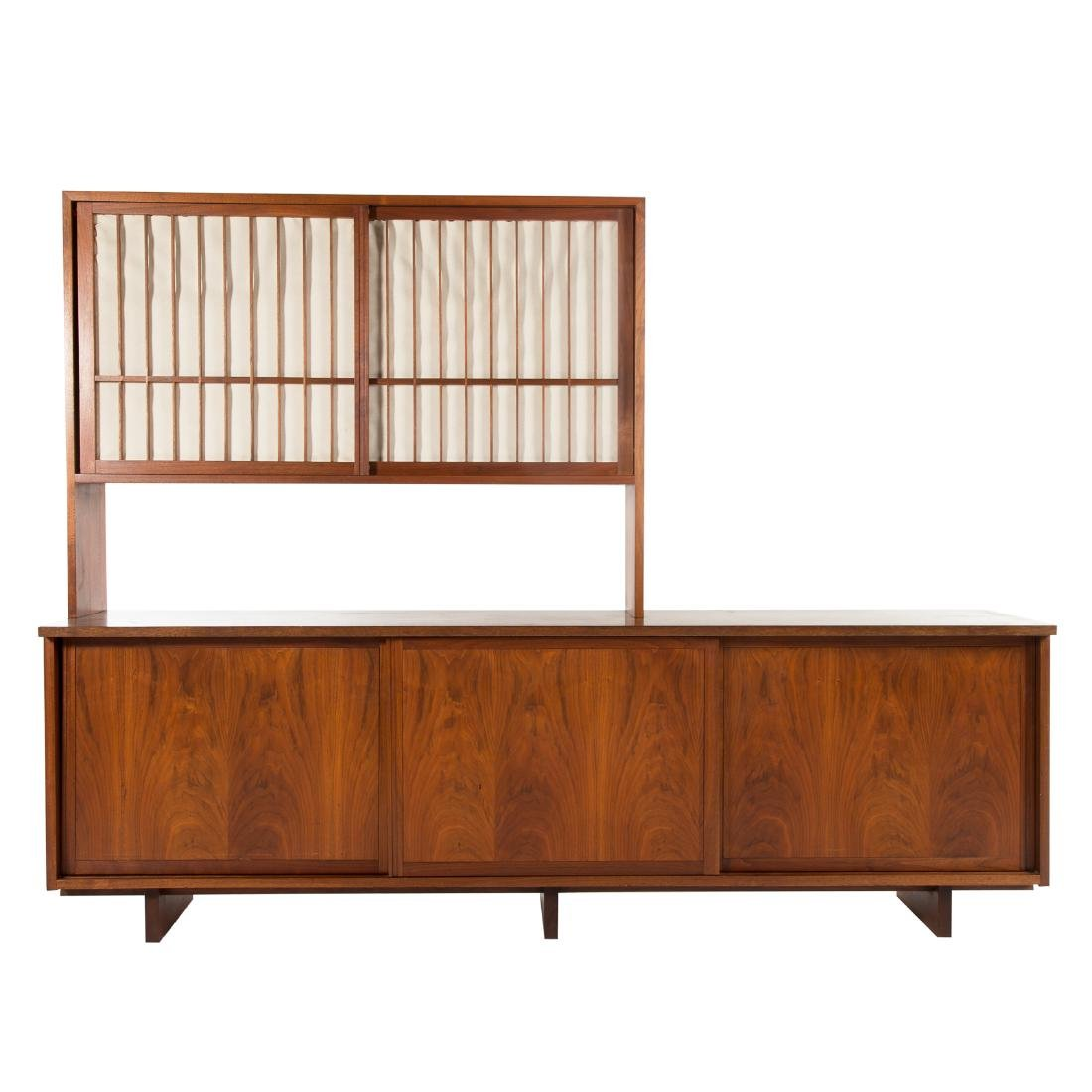 George Nakashima Triple Cabinet With Top Piece