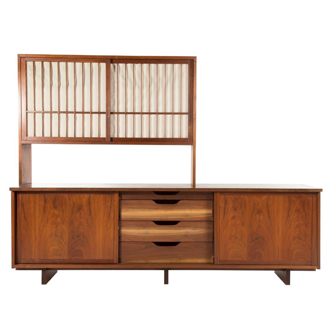 George Nakashima Triple Cabinet With Top Piece - 2