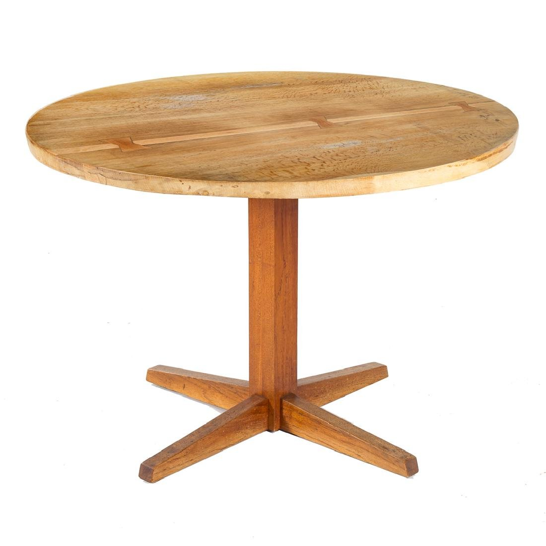 George Nakashima Round Pedestal Table