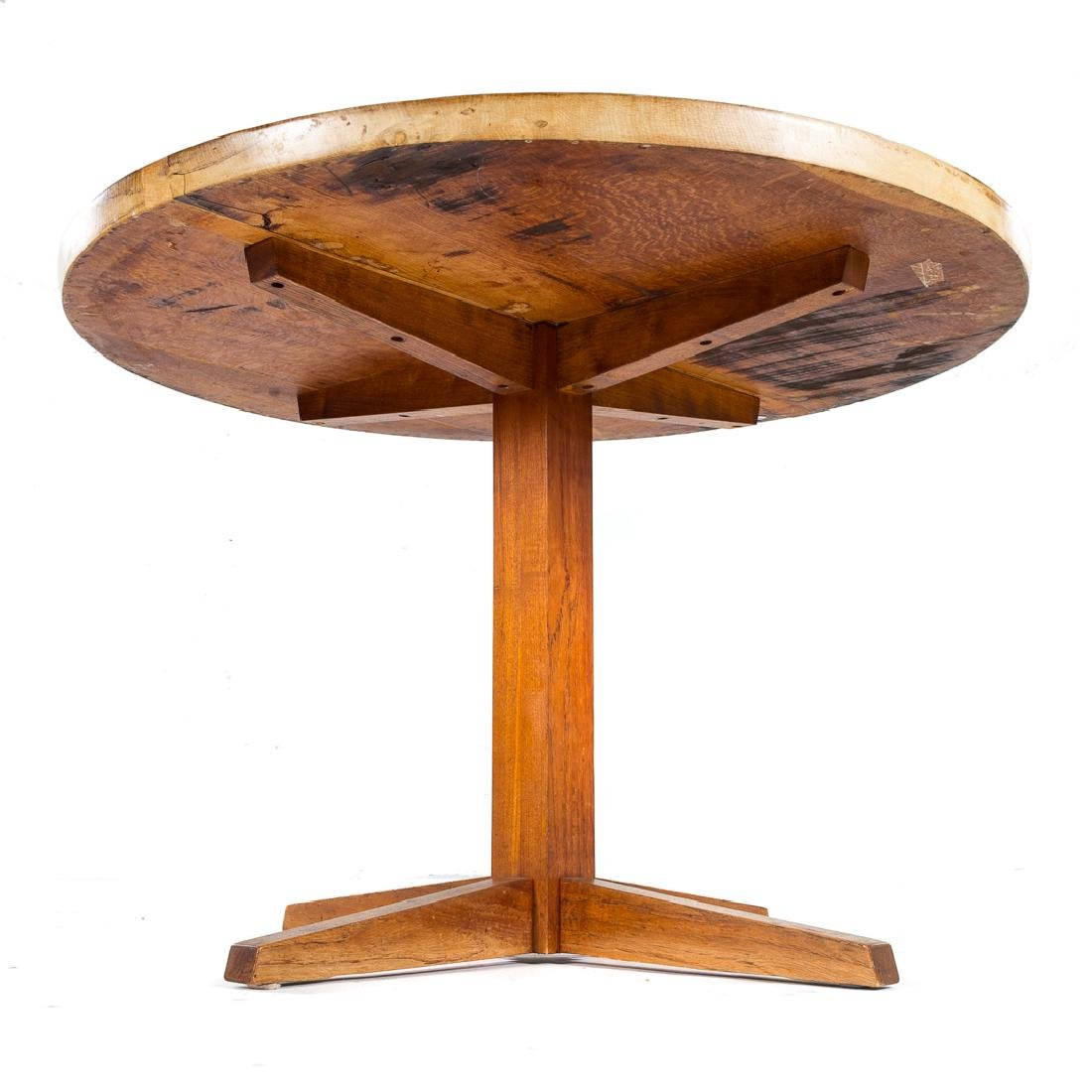 George Nakashima Round Pedestal Table - 2