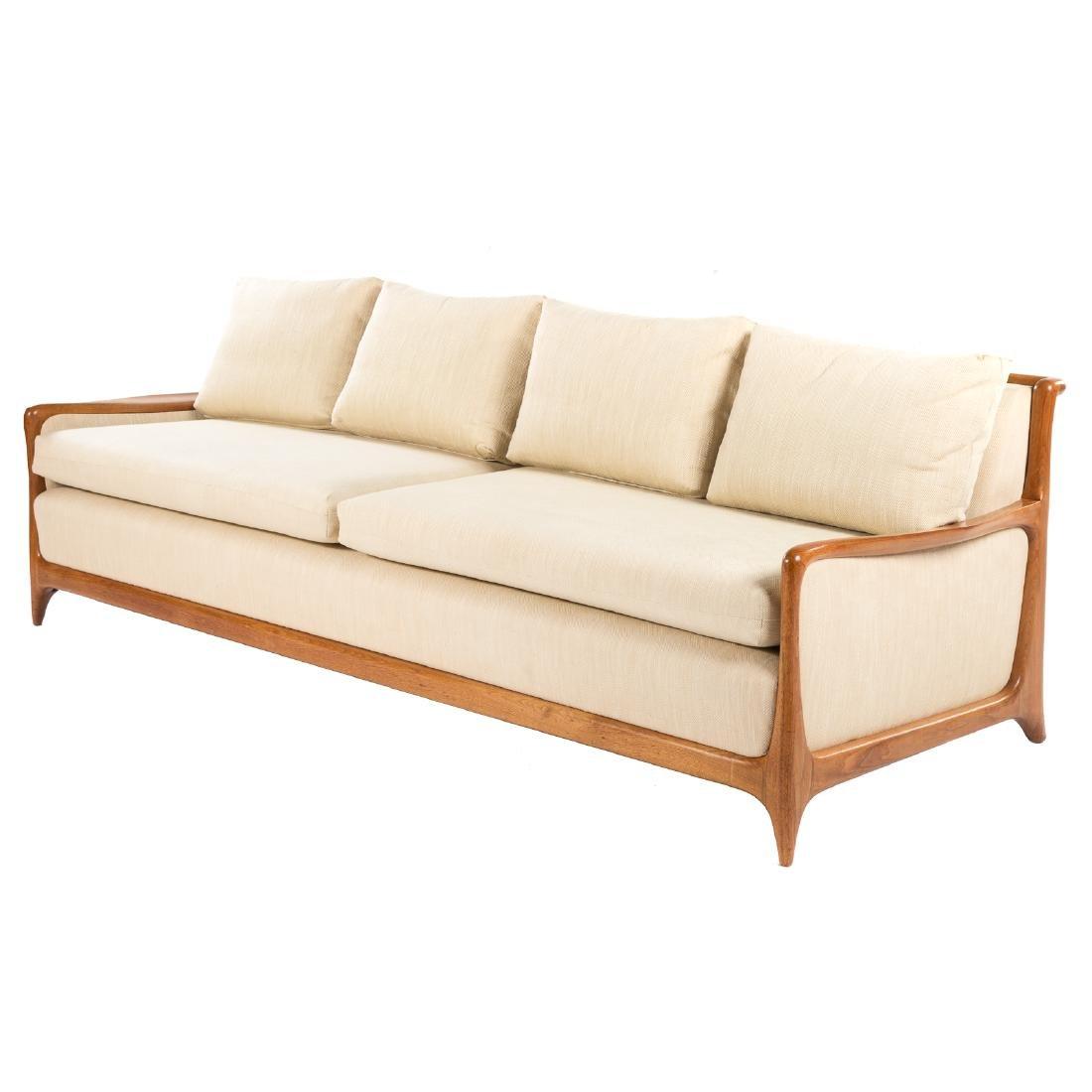 Vladimir Kagan - Dreyfuss walnut upholstered sofa - 2