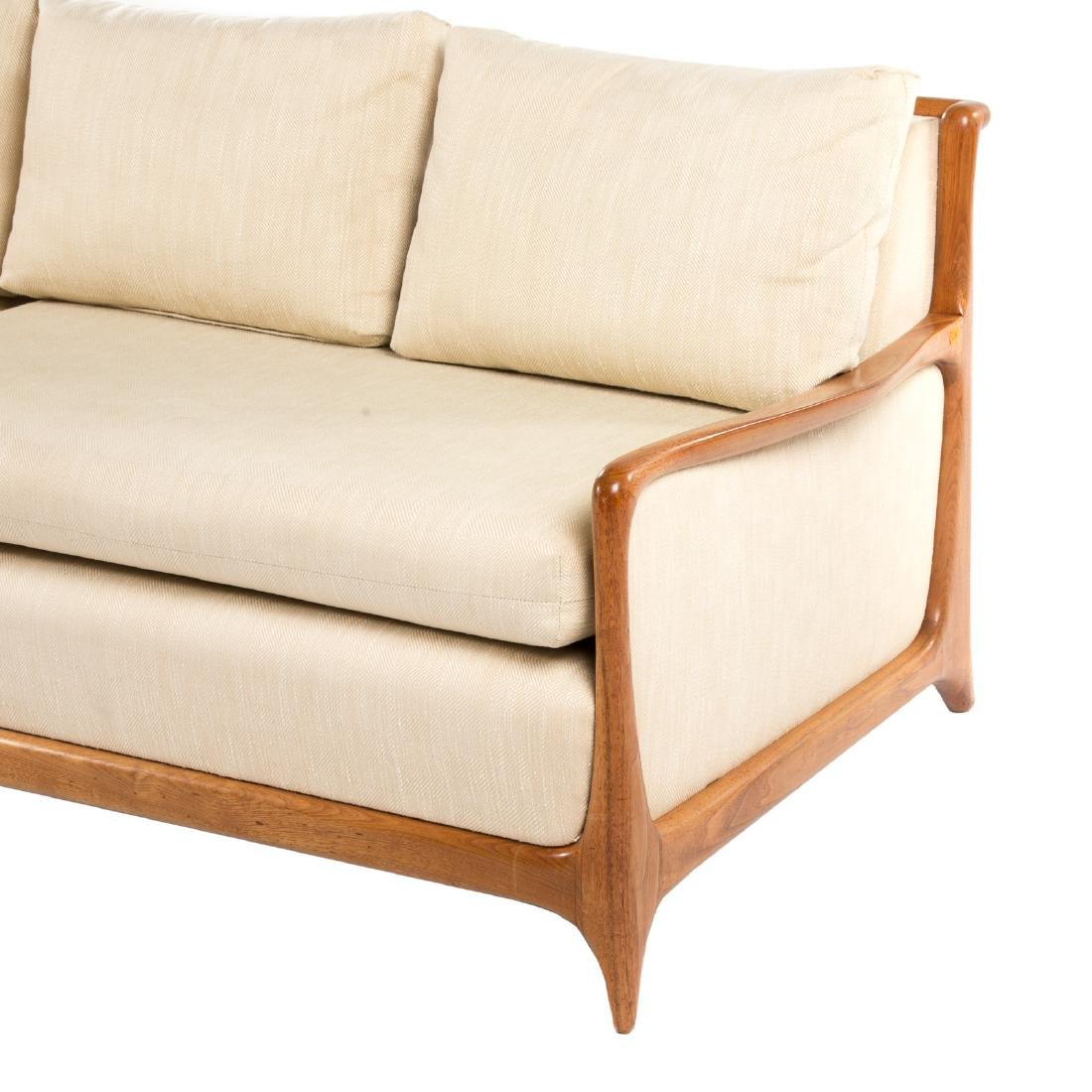 Vladimir Kagan - Dreyfuss walnut upholstered sofa - 3