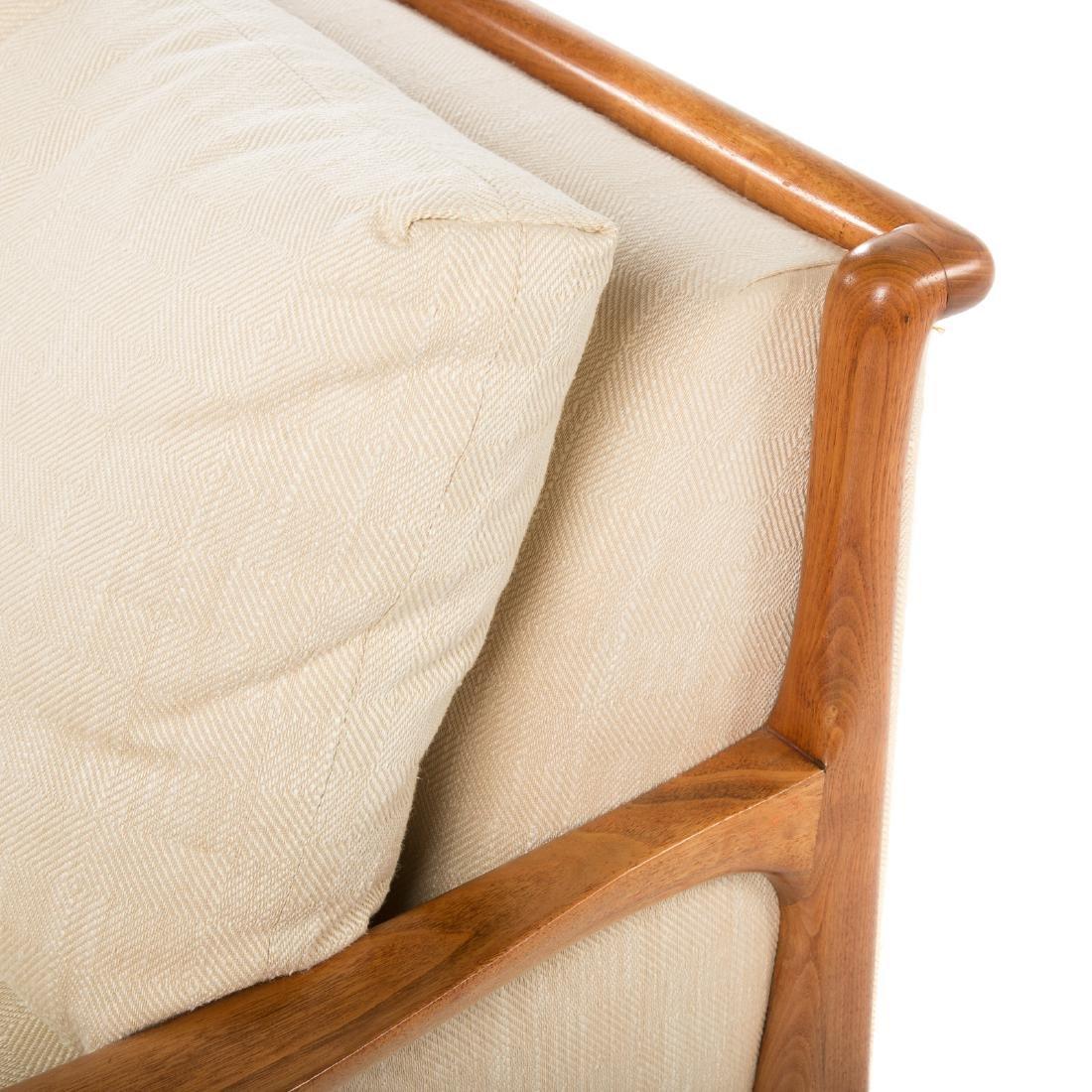 Vladimir Kagan - Dreyfuss walnut upholstered sofa - 6