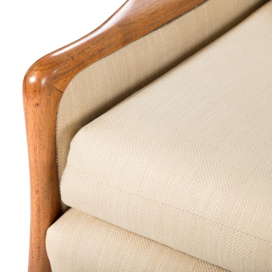 Vladimir Kagan - Dreyfuss walnut upholstered sofa - 4