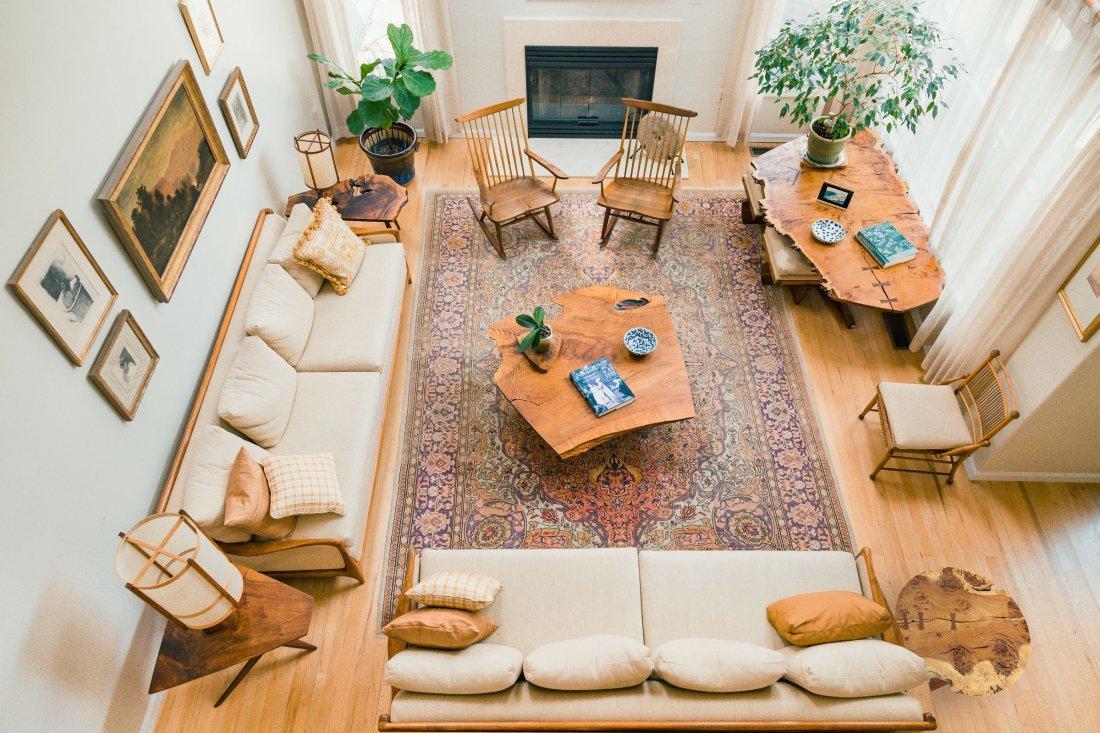 Vladimir Kagan - Dreyfuss walnut upholstered sofa - 8