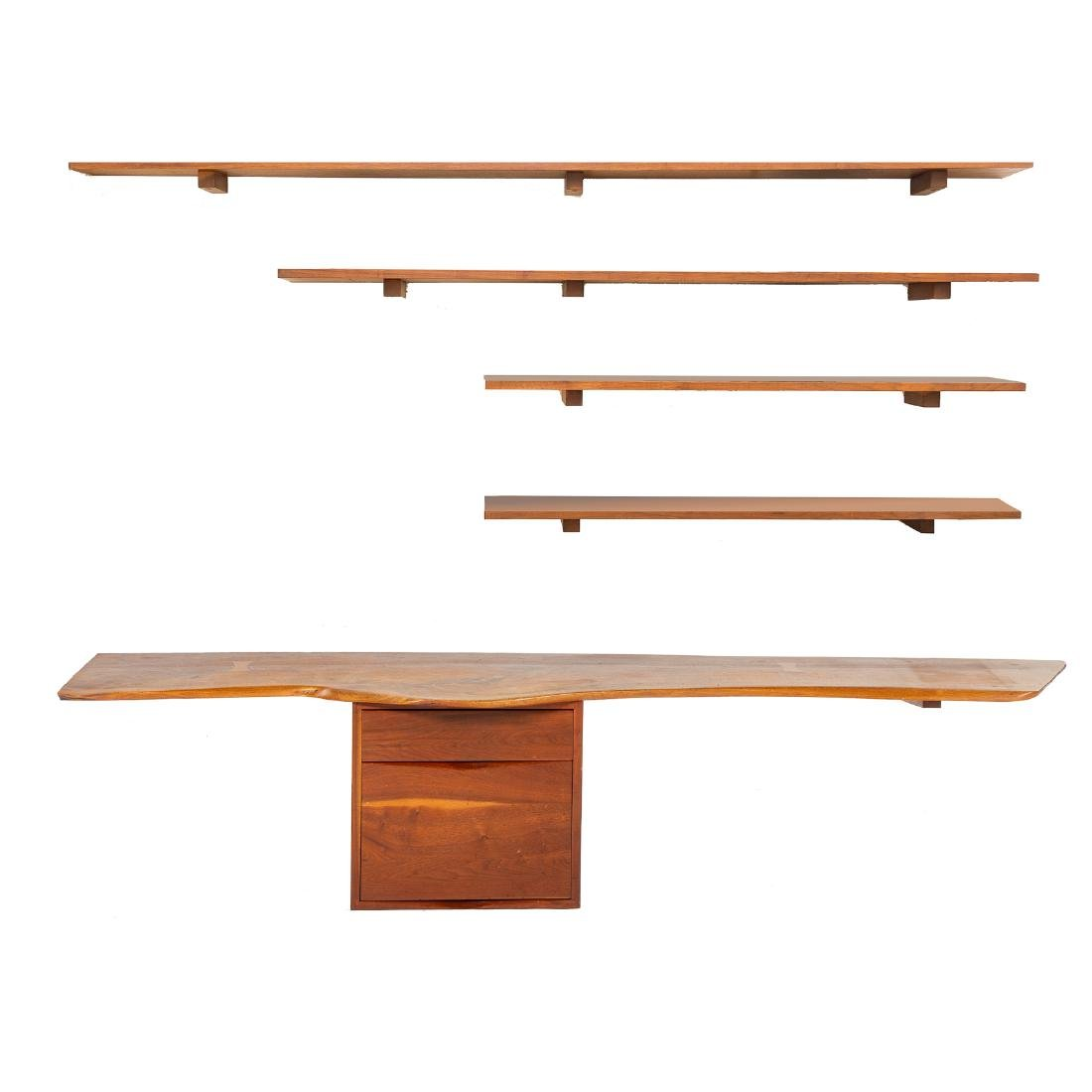 Phillip Lloyd Powell Wall-Mounted Desk and Shelves