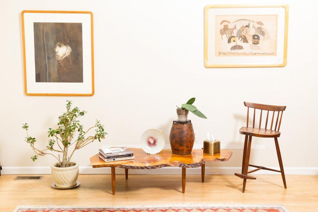 George Nakashima Slab Coffee Table - 9