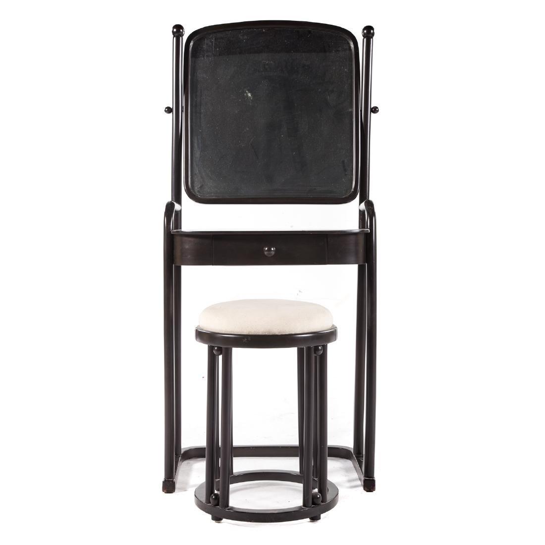 Wiener Werkstatte wood dressing table & stool