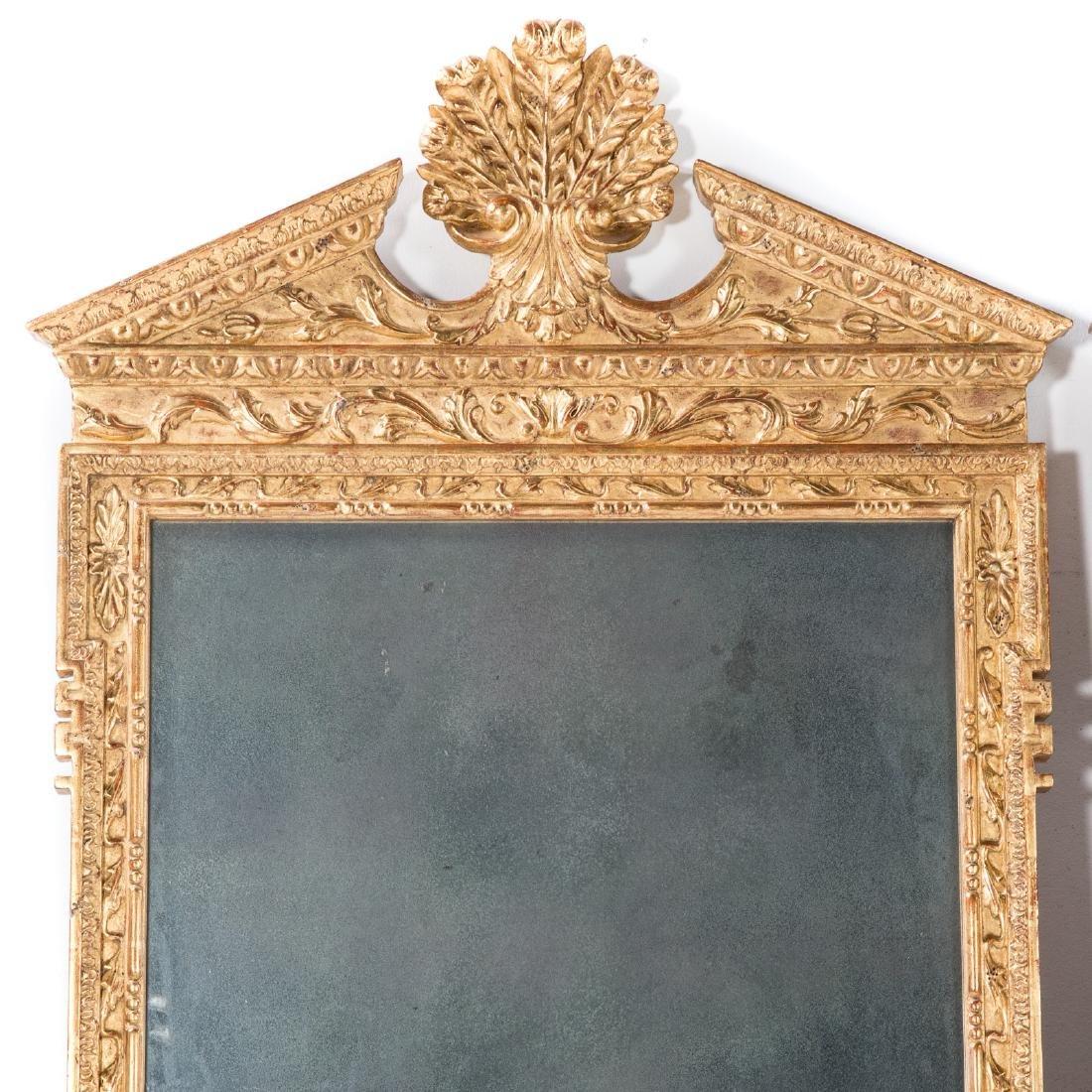 Pair George III style gilt wood mirrors - 2