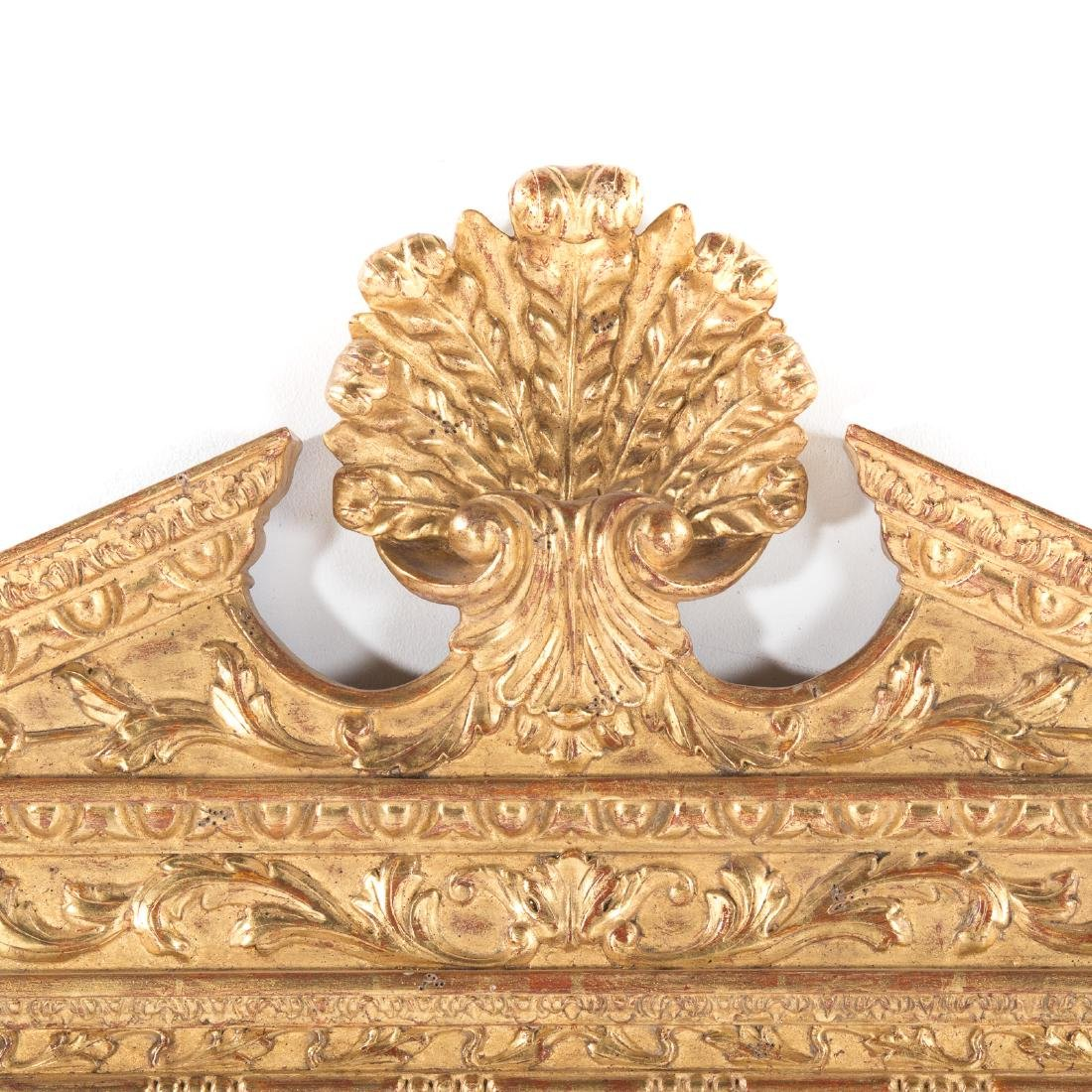 Pair George III style gilt wood mirrors - 3