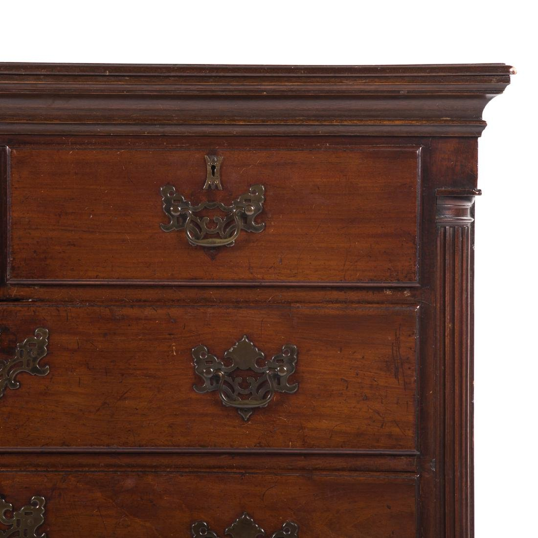 Chippendale mahogany chest of drawers - 2