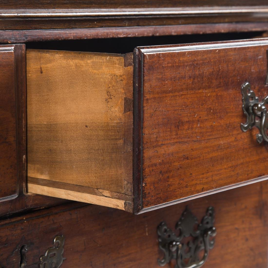 Chippendale mahogany chest of drawers - 3