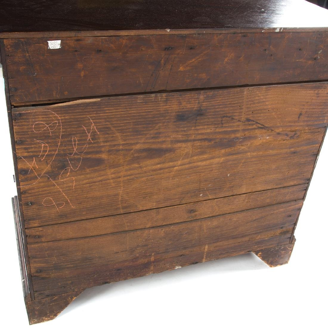 Chippendale mahogany chest of drawers - 5