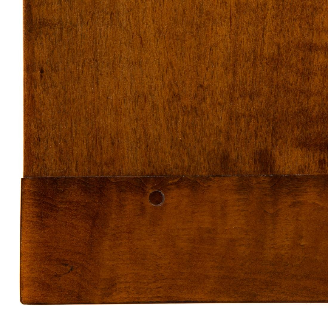 Contemporary tiger maple coffee table - 5