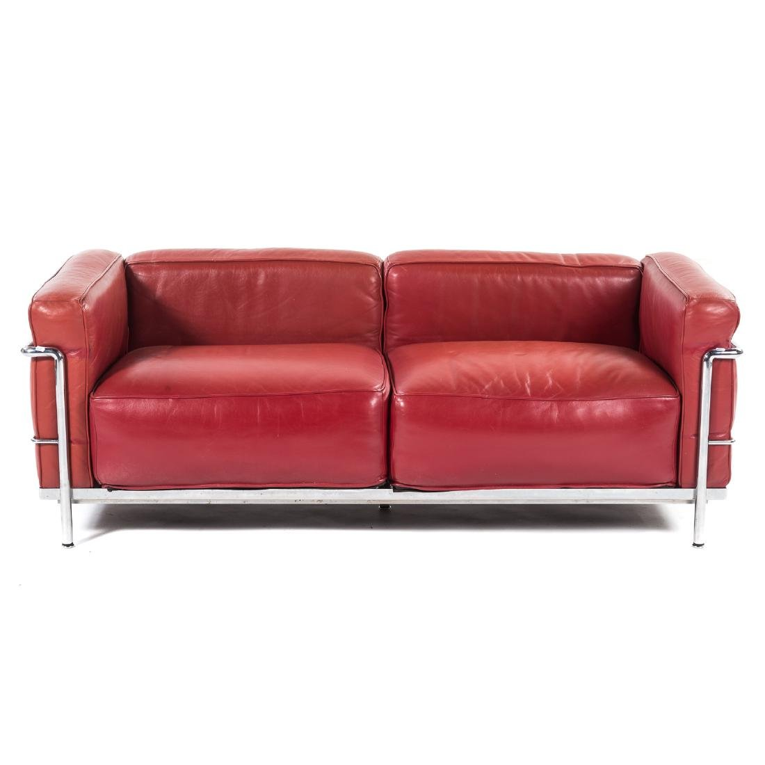 Le Corbusier LC2 leather & chrome sofa