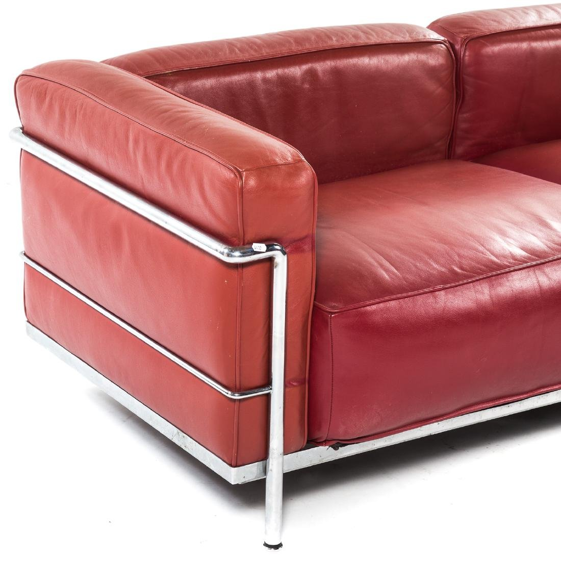 Le Corbusier LC2 leather & chrome sofa - 2