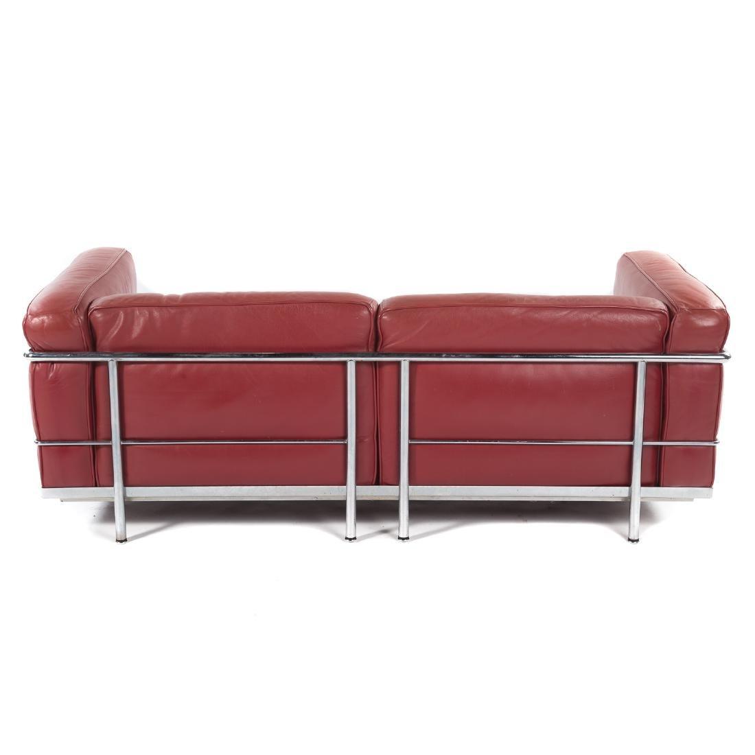 Le Corbusier LC2 leather & chrome sofa - 3