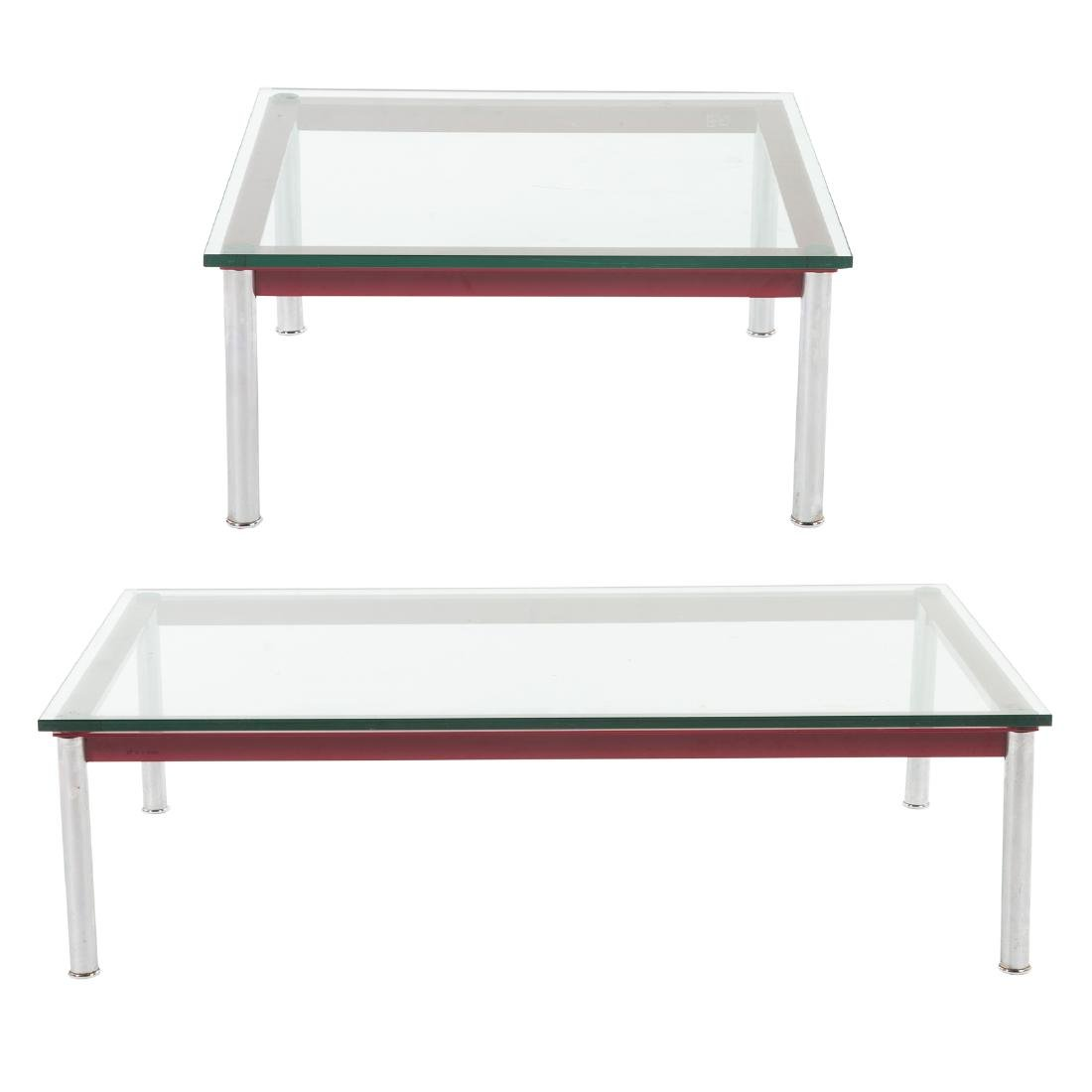 Le Corbusier painted metal & chrome coffee table