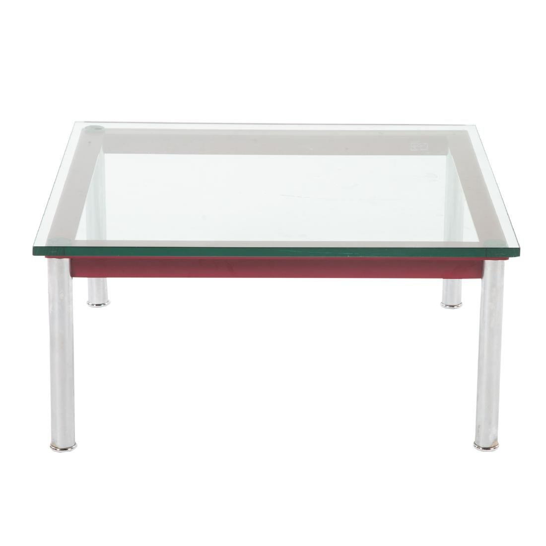 Le Corbusier painted metal & chrome coffee table - 2