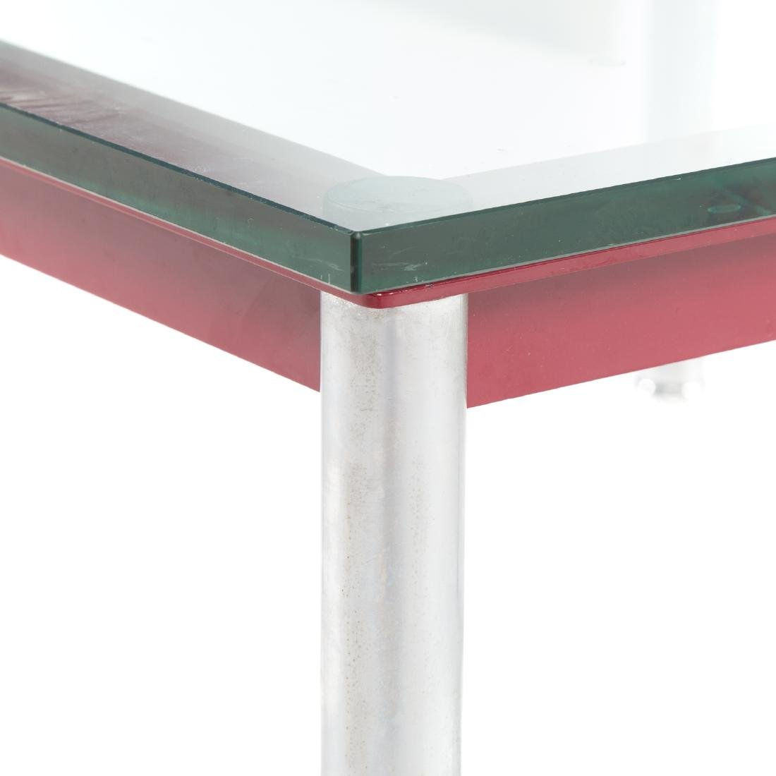 Le Corbusier painted metal & chrome coffee table - 5