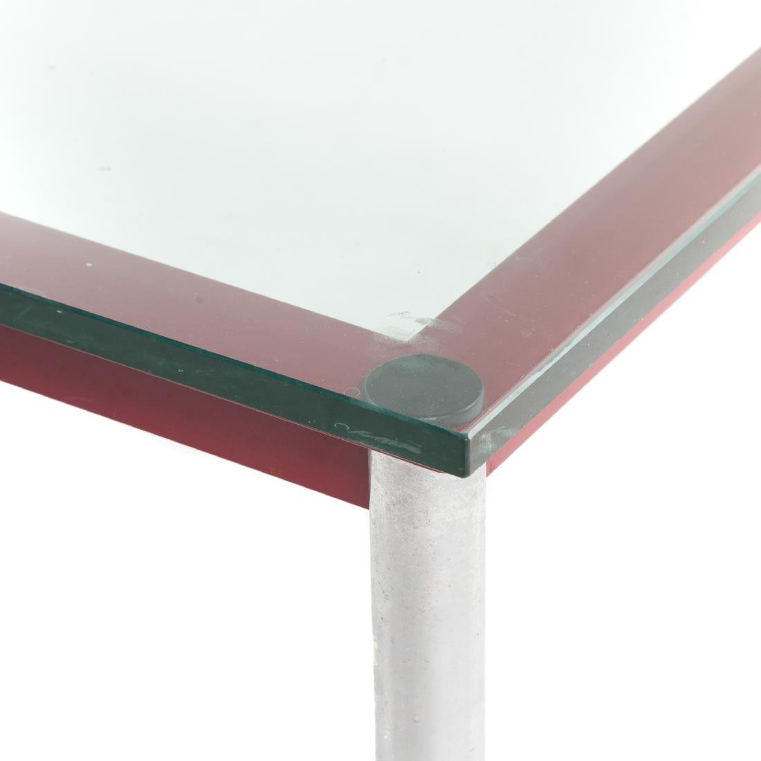 Le Corbusier painted metal & chrome coffee table - 6