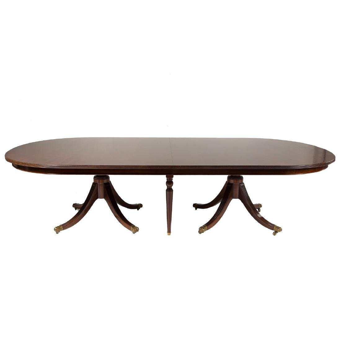 George III style mahogany dining table