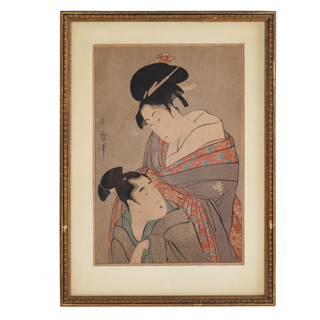 Four Japanese color woodblock prints - 3