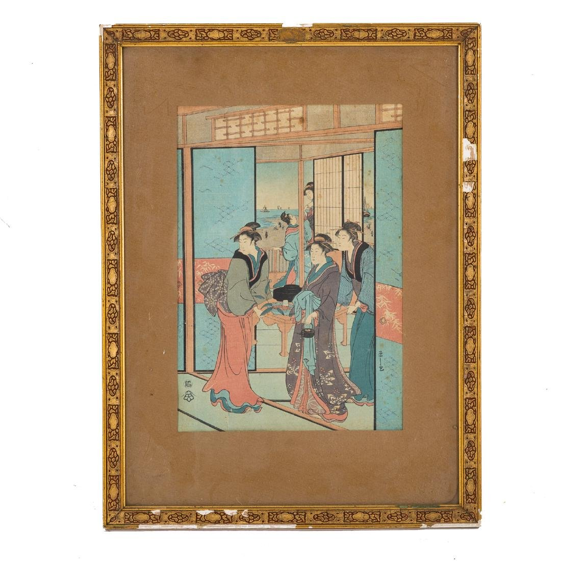 Four Japanese color woodblock prints - 5