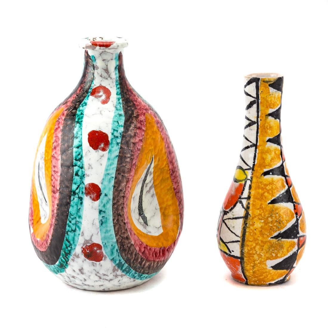 Two Italian ceramic vases