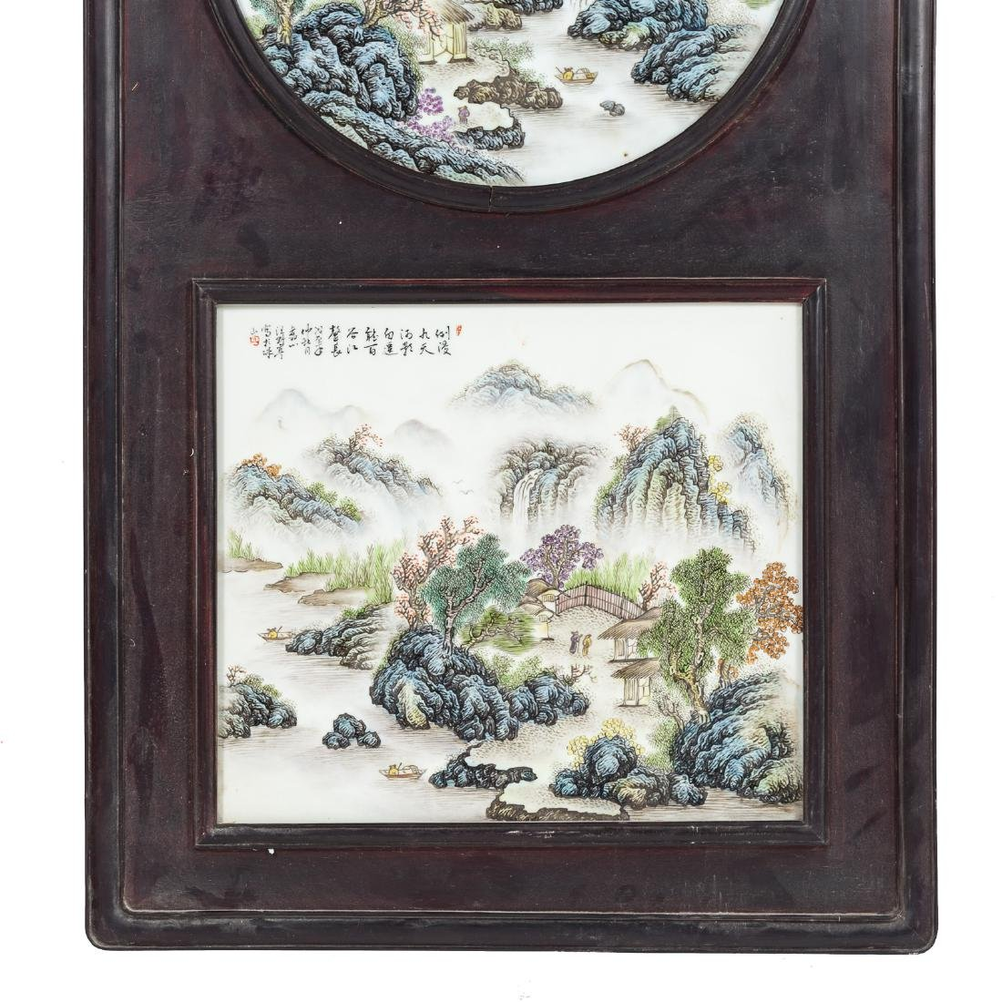 Two Chinese painted porcelain plaques - 3