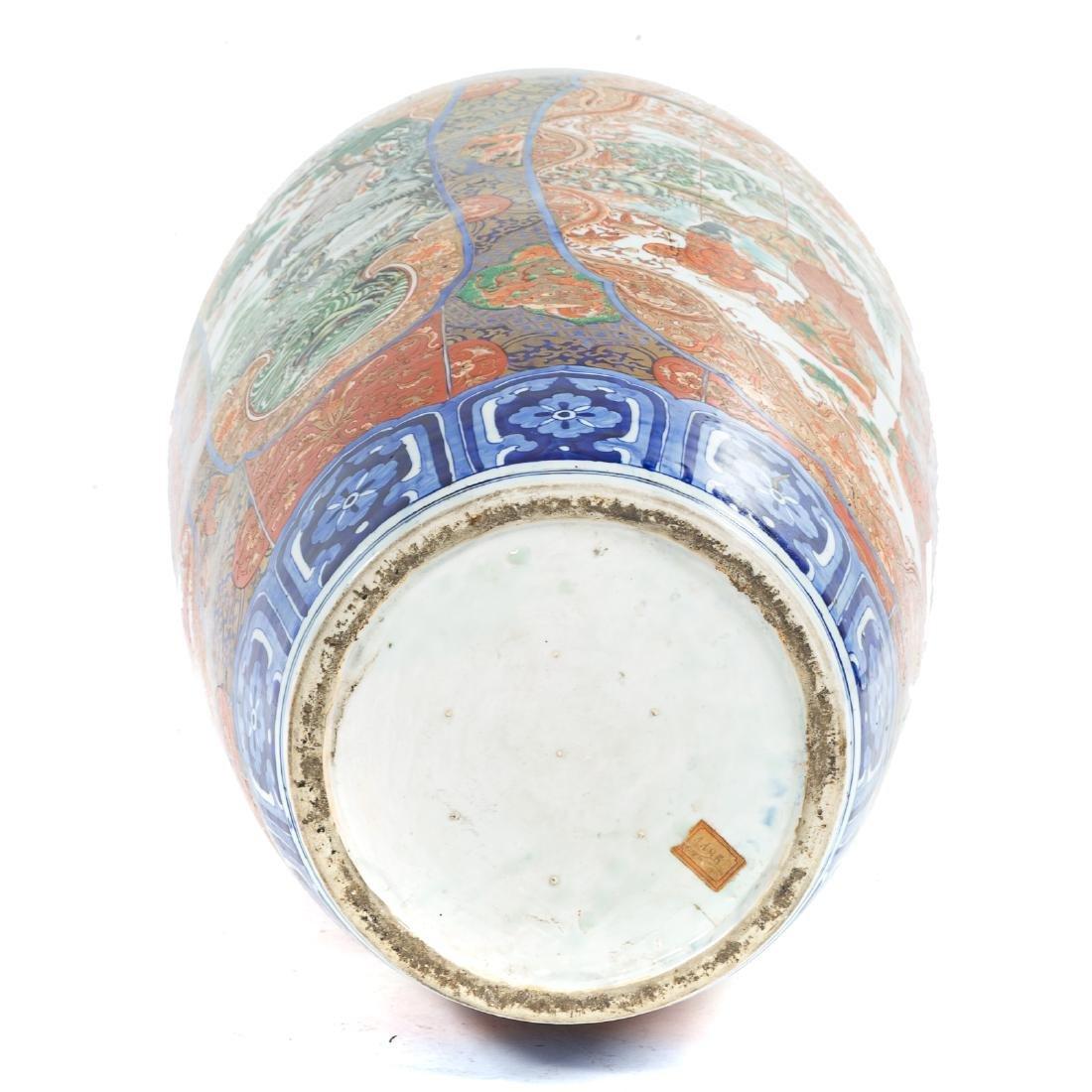 Japanese Imari porcelain monumental palace vase - 11