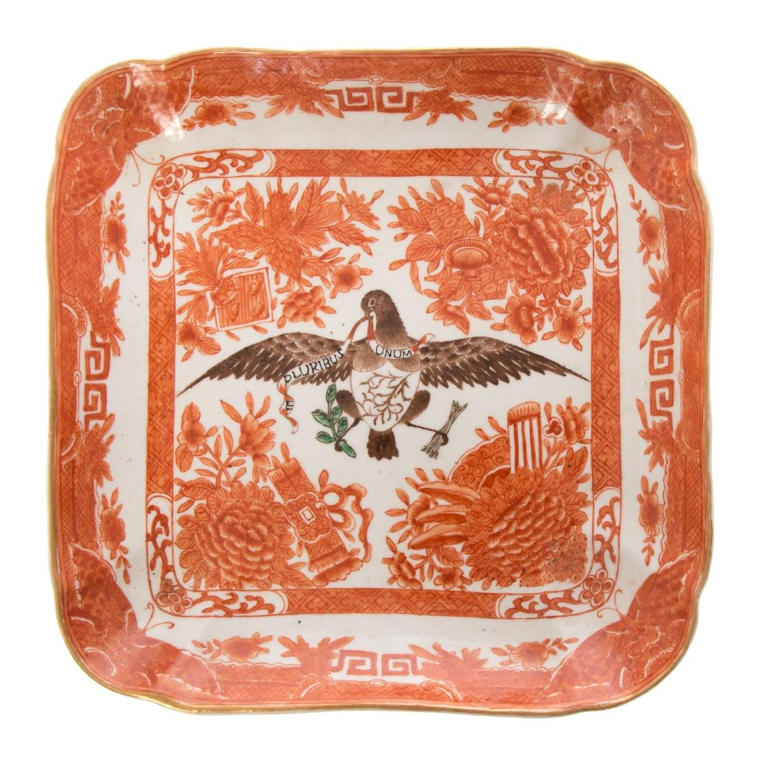 Two Chinese Export style orange Fitzhugh articles - 5